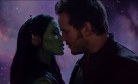 Guardians of the Galaxy Zoe Saldana Chris Pratt