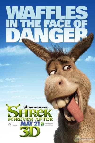 Shrek Forever After Waffles in the Face of Danger Poster
