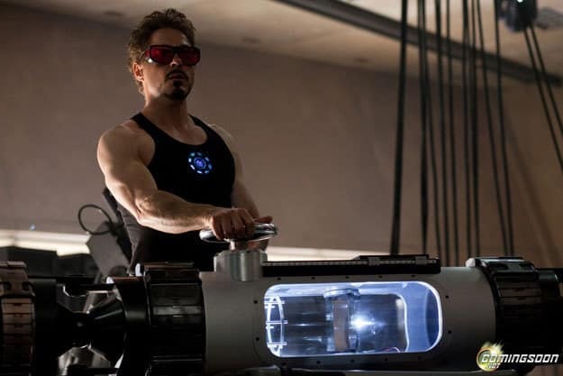 Tony Stark in the Lab