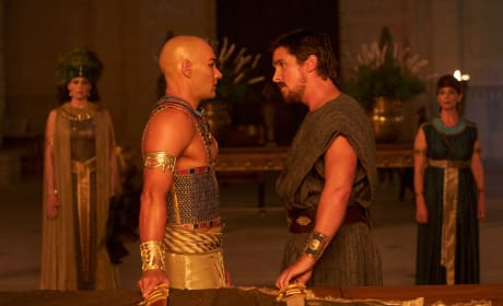 Exodus Gods and Kings Photos: Christian Bale Stares Down Joel Edgerton