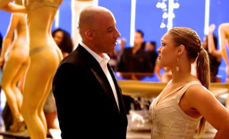 Fast and Furious 7 Set Photo: Vin Diesel with Ronda Rousey!