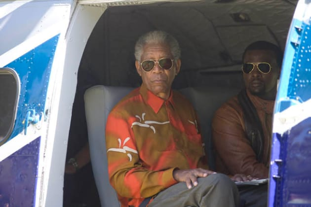 Mandela in the Chopper