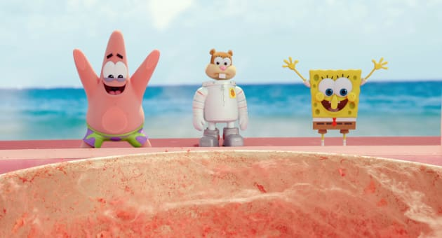 The SpongeBob Movie Sponge Out of Water Animation Cell