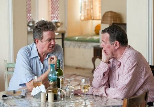 John Madden Directs Tom Wilkinson on The Best Exotic Marigold Hotel Set