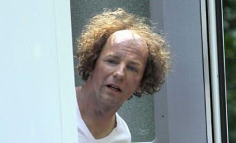 Sean Hayes on Three Stooges Set
