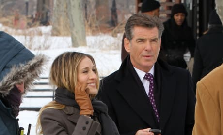 Pierce Brosnan & SJP in I Don't Know How She Does It
