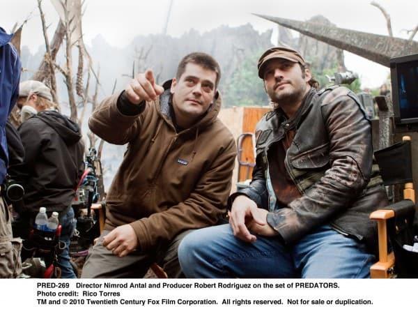 Nimrod and Robert on Set
