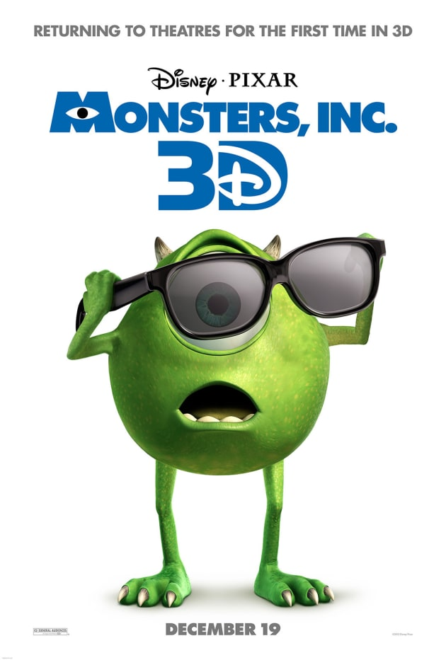 Monsters, Inc. 3D Poster