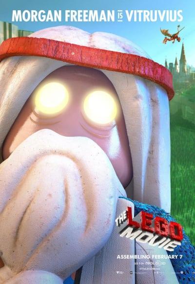 The LEGO Movie Vitruvius Morgan Freeman Poster