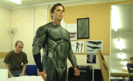 Christian Bale Batman Suit Fitting