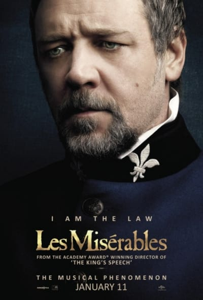 Les Miserables Russell Crowe Poster