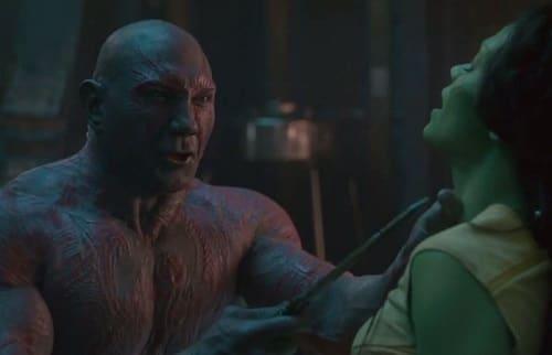 Guardians of the Galaxy Dave Bautista Zoe Saldana