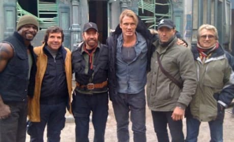 The Expendables 2: First Photo of Chuck Norris on Set