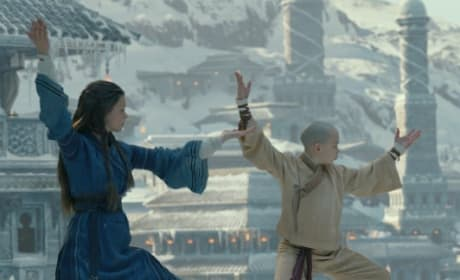 Katara and Aang Train