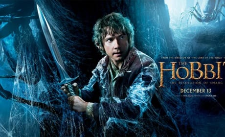 The Hobbit The Desolation of Smaug Poster: Bilbo Wields His Sword