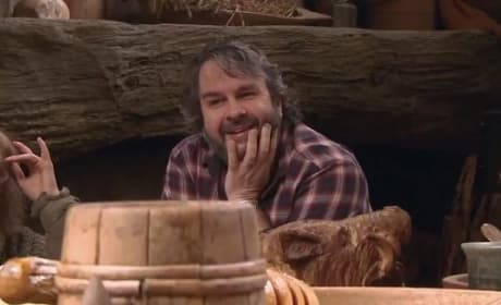 Peter Jackson The Hobbit: The Desolation of Smaug Set Photo