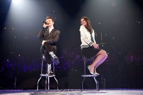 Lea Michele and Kurt Colfer in Glee: The 3D Concert Movie
