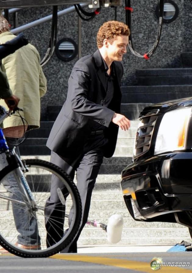 Justin Timberlake On Set