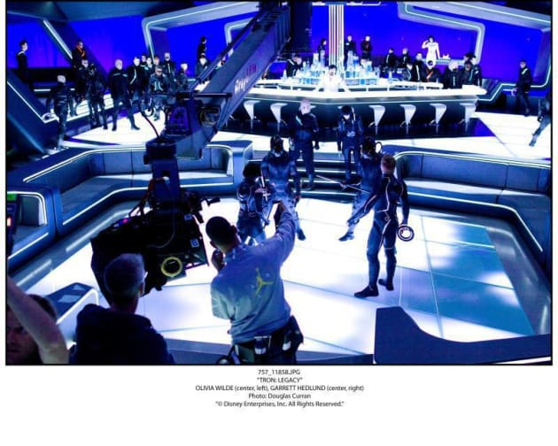 Shooting a Scene in Tron Legacy