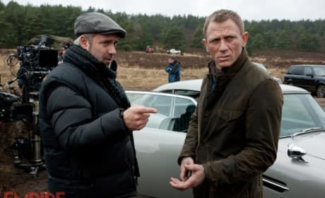 Sam Mendes and Daniel Craig Skyfall