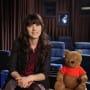 Zooey Deschanel and Winnie the Pooh