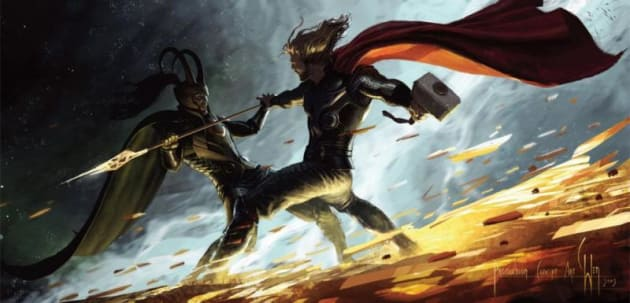 Thor Comic Con Artwork
