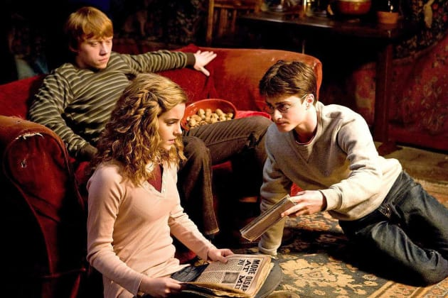 Harry, Ron, and Hermoine in Half-Blood Prince