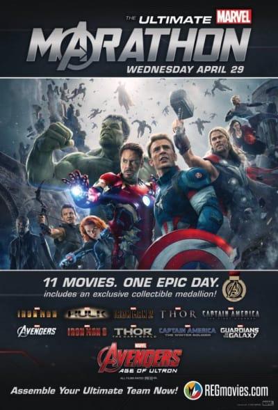 Marvel Movie Marathon Promo Art