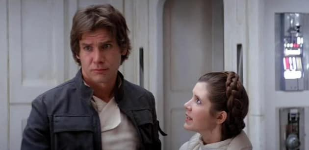 Star Wars Harrison Ford Carrie Fisher