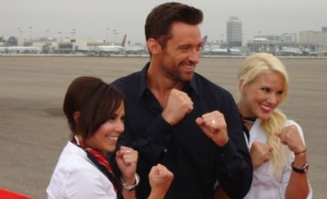 Hugh Jackman at LAX