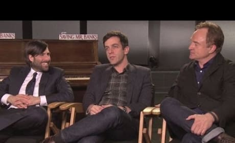 B.J. Novak Jason Schwartzman Bradley Whitford Saving Mr. Banks Exclusive Interview