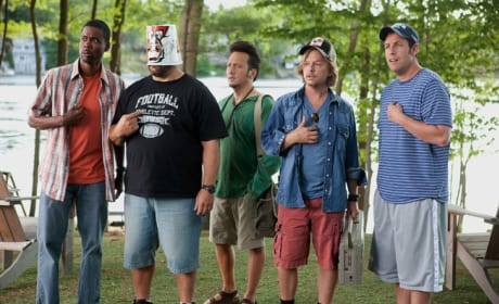 See Adam Sandler and the Cast of Grown Ups Having a Blast in Set Photos!