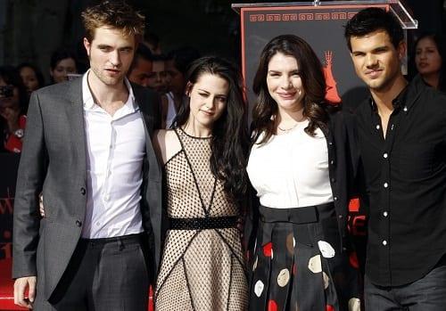Stephenie Meyer, Robert Pattinson, Kristen Stewart and Taylor Lautner