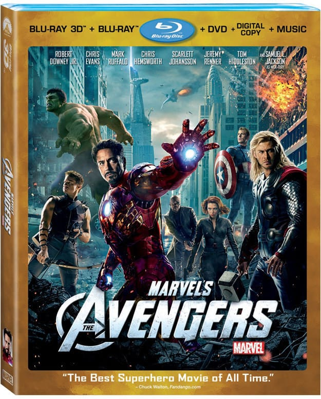 Avengers Blu-Ray Cover