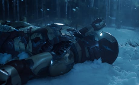 Iron Man in the Snow Iron Man 3
