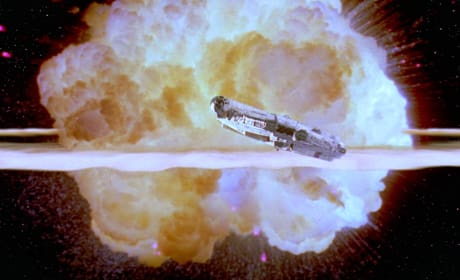 Return of the Jedi Death Star Destroyed
