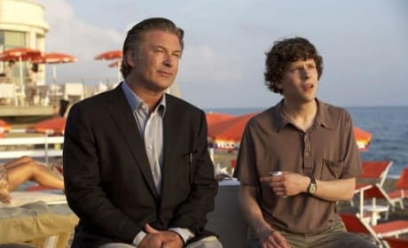 Alec Baldwin and Jesse Eisenberg in From Rome with Love