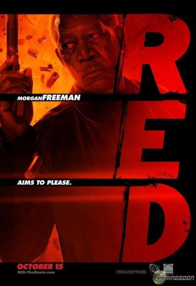 Red Character Poster - Morgan Freeman