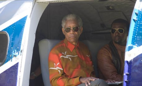 Mandela in the Chopper