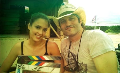 Jessica Alba and Robert Rodriguez Machete Kills