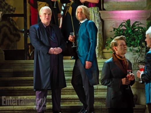 Phillip Seymour Hoffman Woody Harrelson Catching Fire