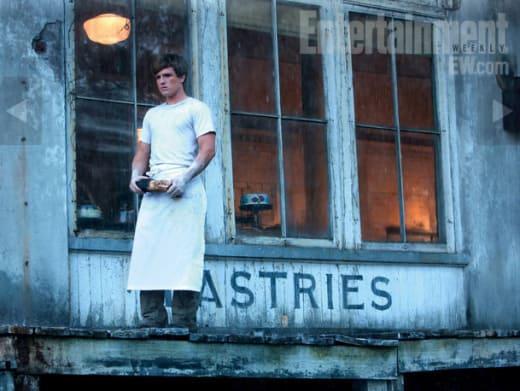 Peeta Outside the Bakery