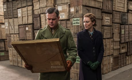 The Monuments Men Matt Damon Cate Blanchett