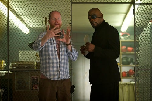 Joss Whedon and Samuel L. Jackson Film The Avengers