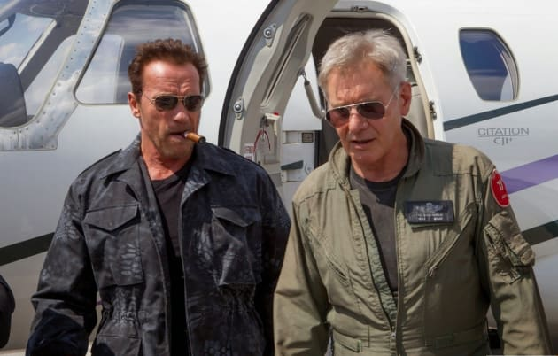 The Expendables 3 Arnold Schwarzenegger and Harrison Ford