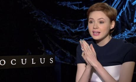 Oculus Exclusive: Karen Gillan on Her Fear of Mirrors!