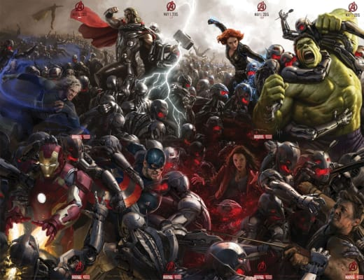 Avengers Age of Ultron Concept Art Poster