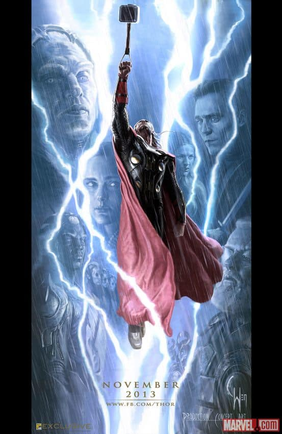 Thor: The Dark World Comic-Con Poster