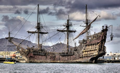 First Look at Blackbeard's Ship from Pirates of the Caribbean: On Stranger Tides!