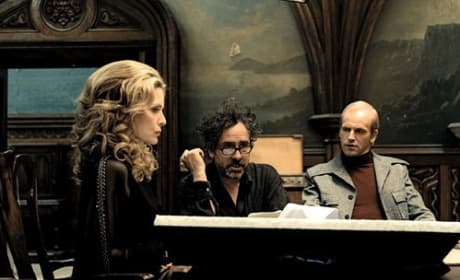 Dark Shadows: Photos of Tim Burton Hard at Work